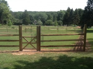 Split Rail Deer Fence